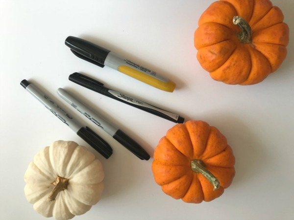 gourds with markers