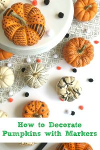 how to decorate pumpkins with markers