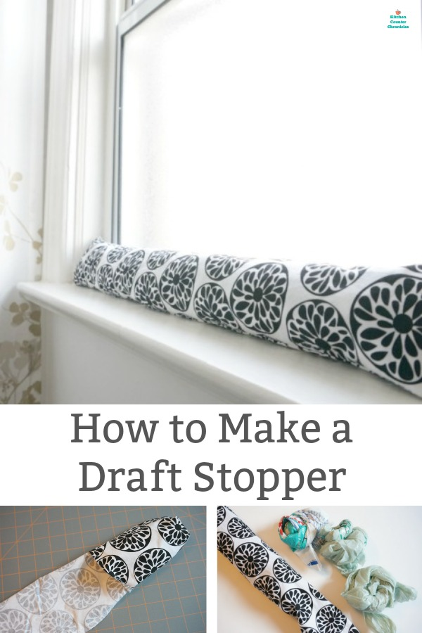 how to make a draft stopper for the window