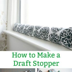 how to make a window or door draft stopper