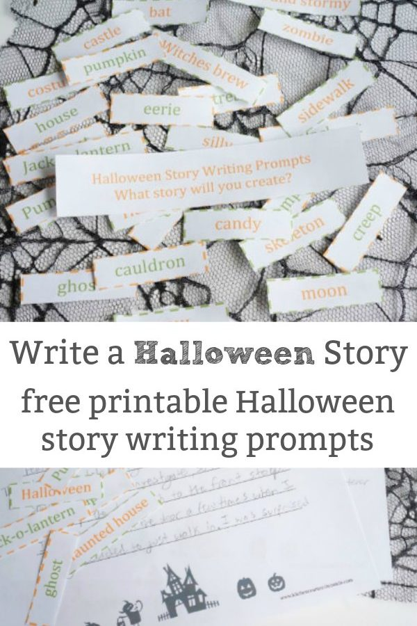 Printable Halloween Story Telling Prompts for Kids