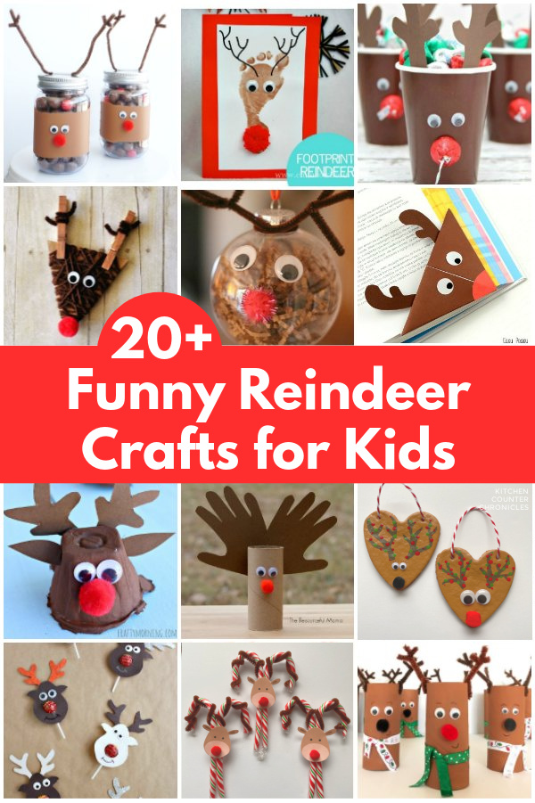 funny reindeer crafts for kids to make collage of reindeer crafts for kids