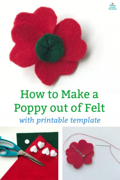 how to make a poppy out of felt template
