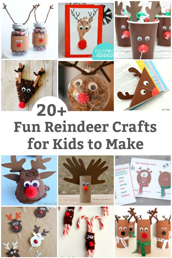 silly reindeer crafts for kids to make