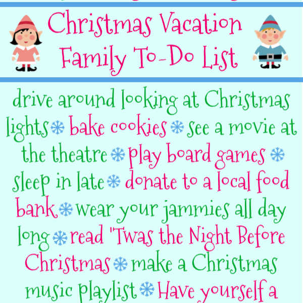 christmas vacation bucket list smaller