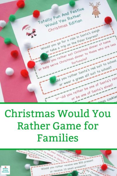 christmas would you rather questions pin