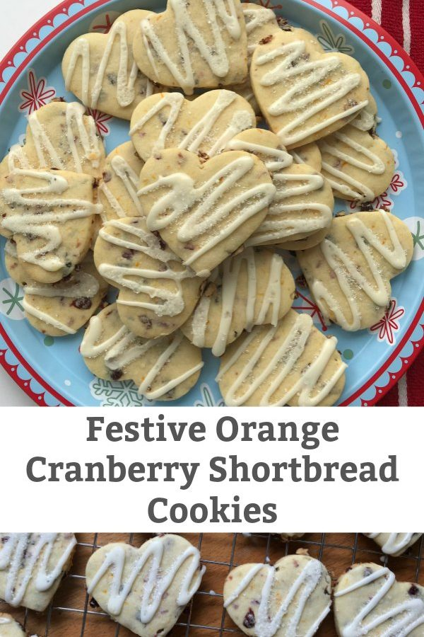 orange cranberry shortbread cookie recipe