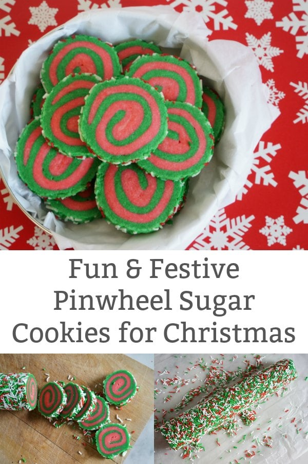 pinwheel sugar cookies for christmas