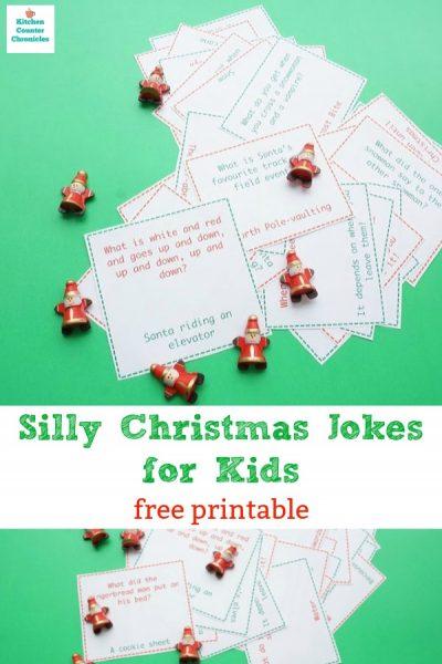 silly christmas jokes for kids free printable