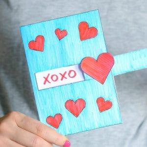 hidden message valentine's day card