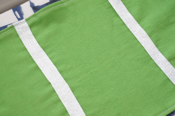 football field table runner yard lines sewn in place