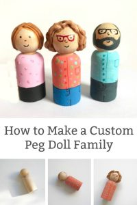 how to make a peg doll family