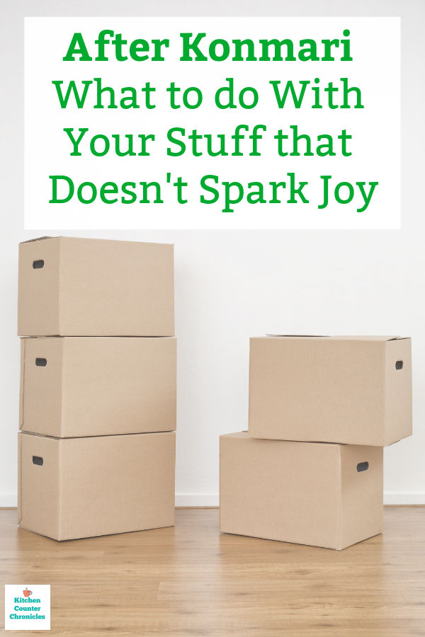 konmari what to do with stuff that doesn't spark joy