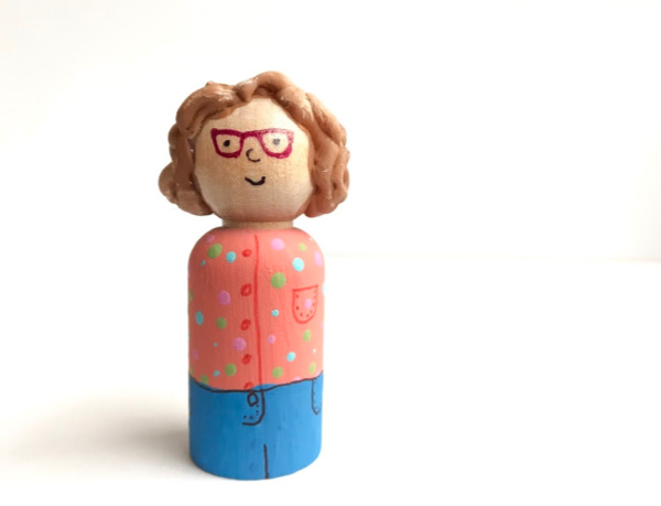 personalized peg doll