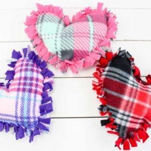 valentine pillow no sew