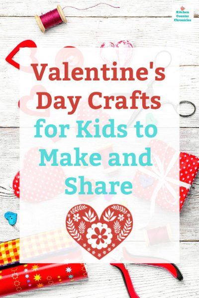 valentine's day crafts for kids page