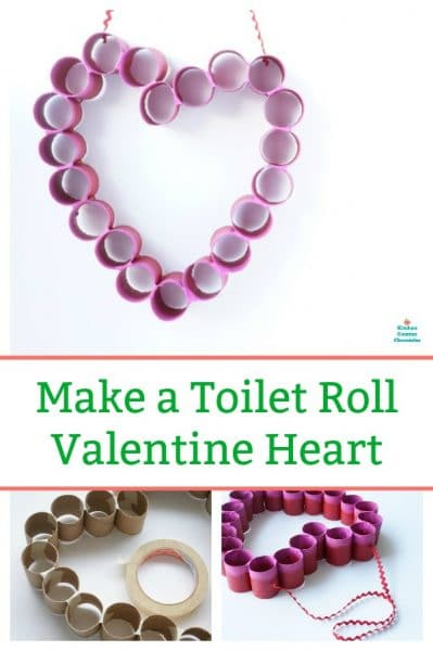how to make a toilet paper roll heart valentine for door