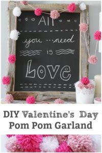 Valentine's Day decoration pom pom garland