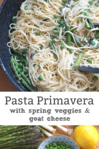pasta primavera with goat cheese vegetarian recipe