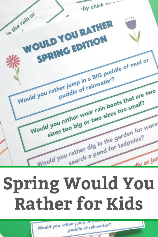 spring would you rather for kids