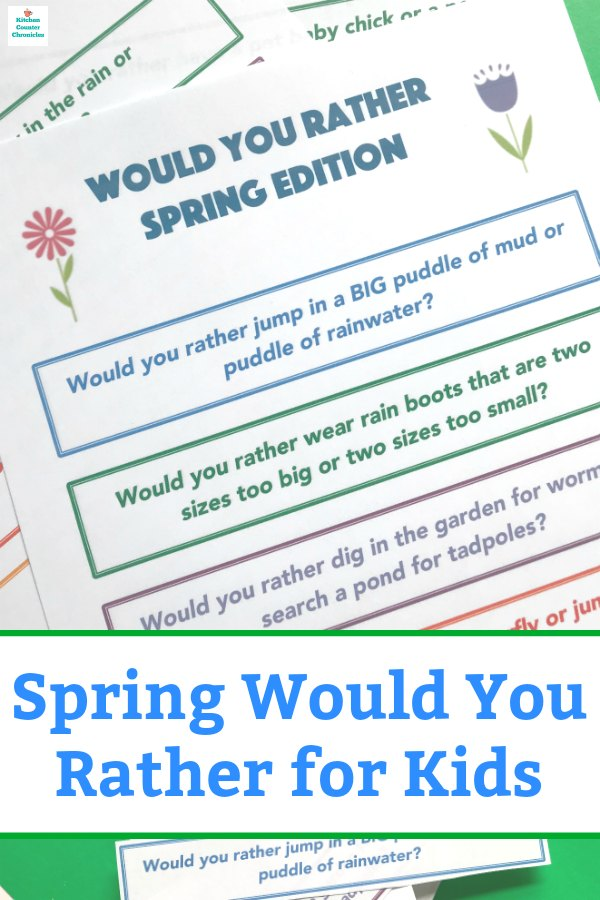 spring would you rather for kids pin