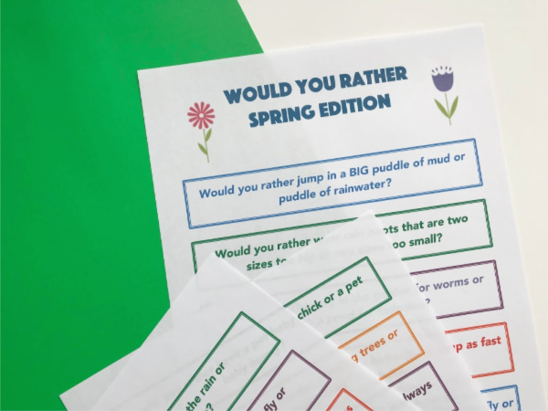 would you rather for tweens printables