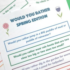 spring would you rather questions for kids