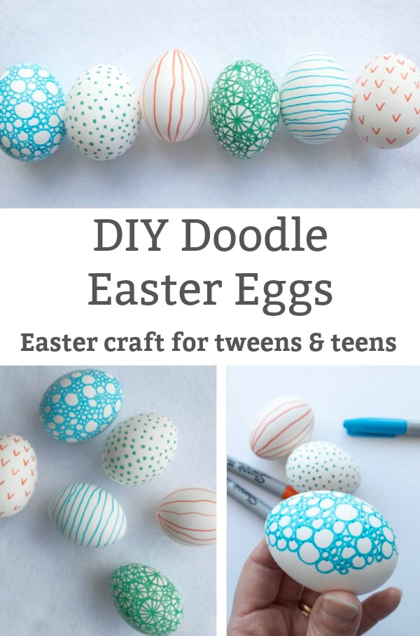 doodle easter eggs easter craft for tweens and teens