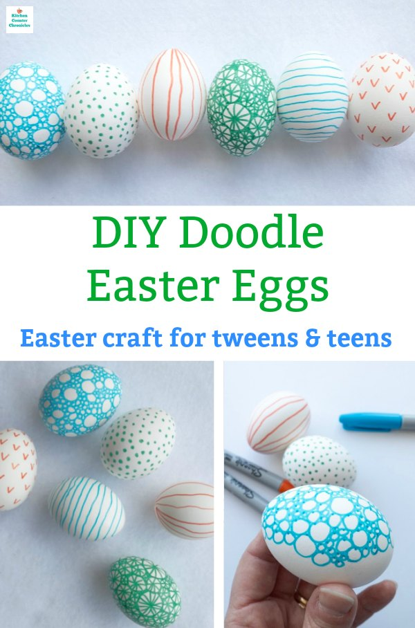 easter craft for tweens doodle egg