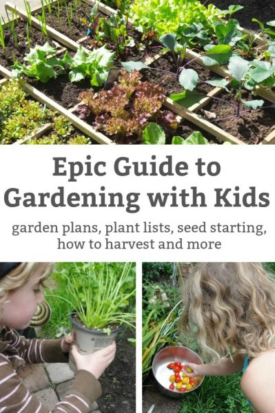 guide to make a garden at home with kids