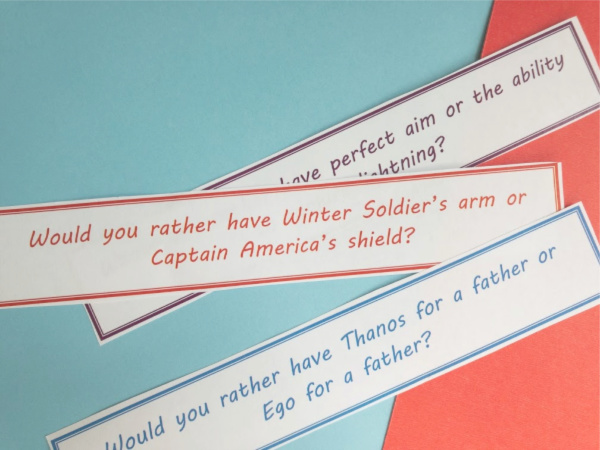 superhero would you rather game cut out