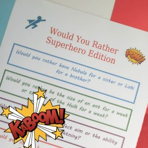 would you rather superhero edition social