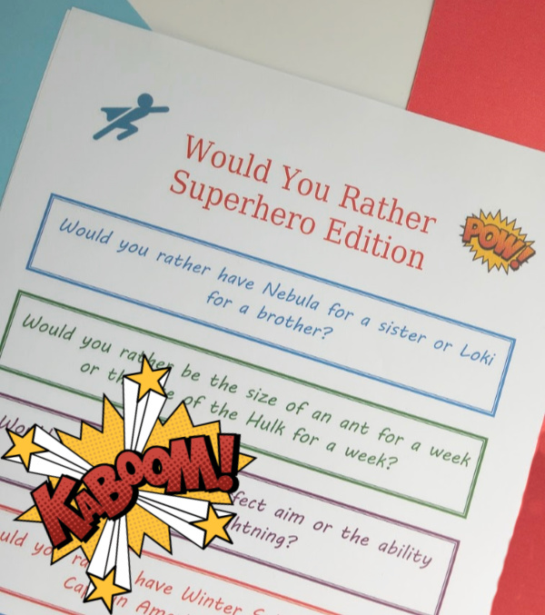 Superhero Would You Rather Questions for Kids