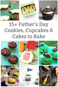 collage of father's day desserts