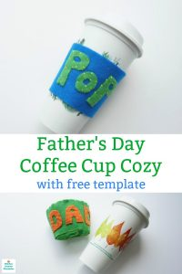 father's day craft coffee cup sleeve diy