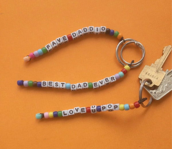 father's day craft for tweens finished father's day keychain