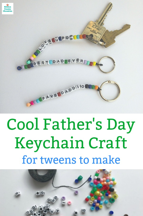 father's day craft for tweens keychain