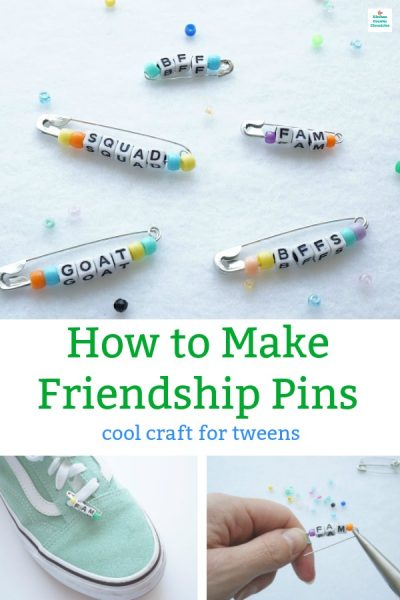 how to make friendship pins craft for teens