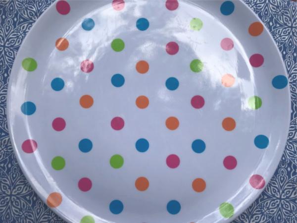 round fruit platter or fruit tray