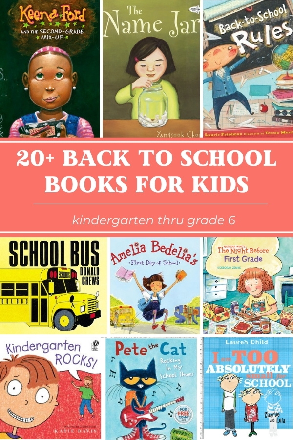 best back to school books for kids collage of book covers