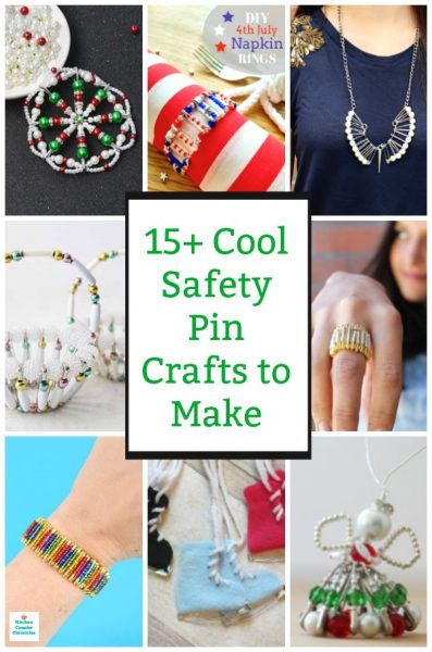 cool safety pin craft ideas