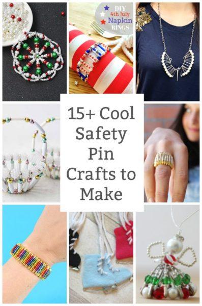 cool safety pin crafts to make