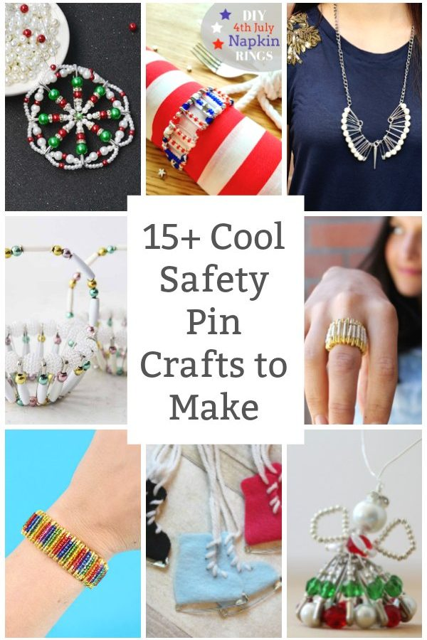 cool safety pin crafts to make