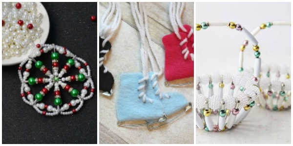 crafts to make with safety pins and beads