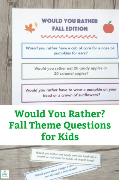 fall would you rather questions for kids pin image