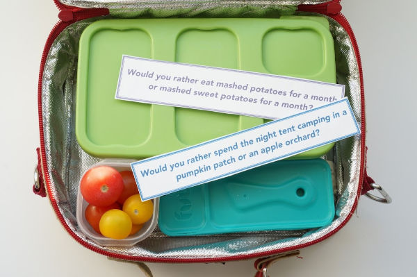 fall would you rather questions in a lunch box
