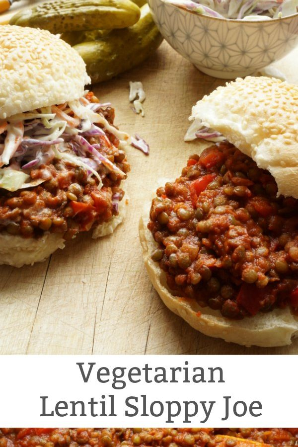 vegetarian lentil sloppy joe recipe
