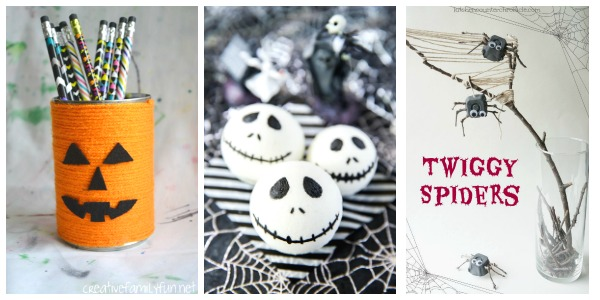 halloween craft projects for tweens and teens collage 4