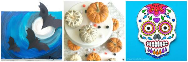 halloween crafts for tweens collage 1