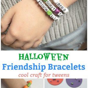 halloween friendship bracelet halloween craft for tweens